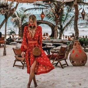 Spell Jewel Soiree Dress Sz Lg